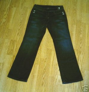 LIMITED LOW RISE WHISKER STRETCH JEANS-8-32 X 34- NWT