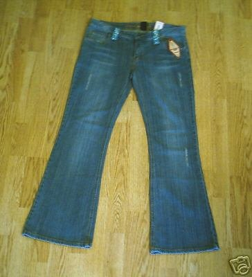 ARIZONA LOW RISE DISTRESSED JEANS-SIZE 11-35 X 32.5-NWT