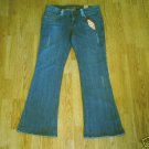 ARIZONA LOW RISE DISTRESSED JEANS-SIZE 9-33 X 32.5-NWT