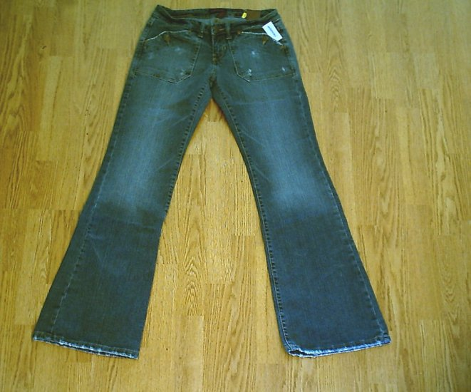 AEROPOSTALE LOW RISE STRETCH FLARE JEANS-7/8 LONG-32 x 34