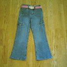 ARIZONA GIRLS STRETCH JEANS & BELT-5 REG-20 x 19.5-NWT