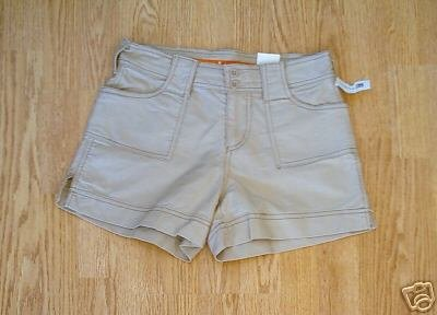 MAURICES WOMENS KHAKI SHORTS-SIZE 1/2-28 X 3 1/2-NWT