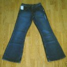 SILVER FADED LEG HIPSTER FLARE JEANS-SIZE 25 x 32-NWT