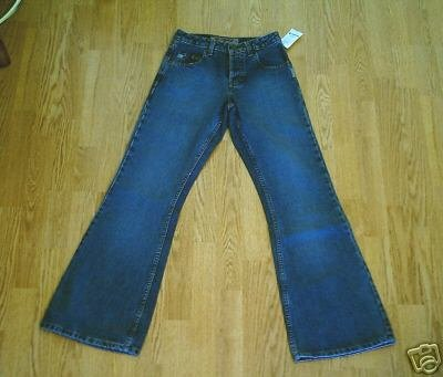 SILVER FADED LEG FLARE JEANS-SIZE 25 x 31 1/2-NWT