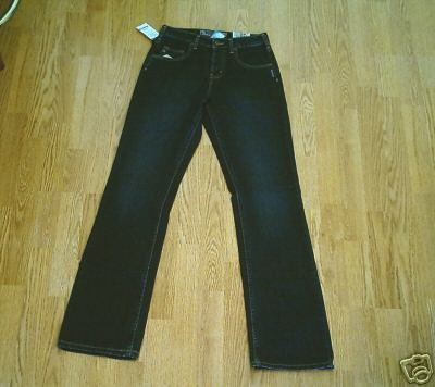 SILVER FADED LEG BOOTCUT JEANS-SIZE 26 X 34-NWT