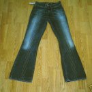 SILVER LOW RISE RARE STYLE JEANS-28 X 35-TAG 27-NWT