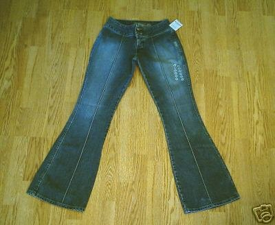 SILVER LOW RISE RARE STYLE JEANS-28 X 33-TAG 27-NWT