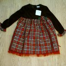 GEORGE CHRISTMAS GIRLS DRESS LONG SLEEVES-SIZE 4-NWT