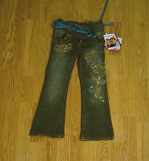 MARY KATE & ASHLEY GIRLS STRETCH JEANS-SIZE 5-NWT NEW