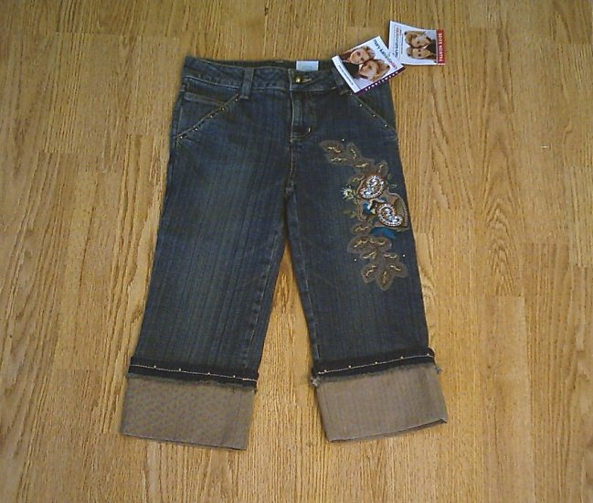 MARY KATE & ASHLEY JEANS CROP CAPRI PANTS-8-24 X 16-NWT