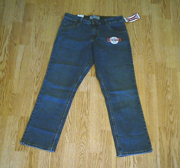 LEVIS MID RISE STRAIGHT STRETCH JEANS-4 SHORT-30 30-NWT