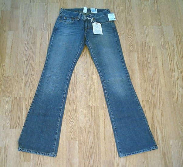 LUCKY LOW RISE WHISKER CUSTOM JEANS-SIZE 0-28 X 35-NWT