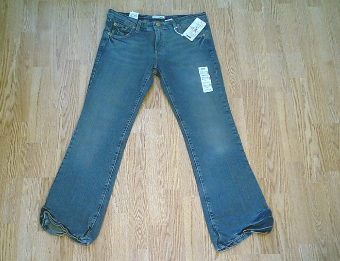 LEVIS 518 SUPERLOW BOOTCUT STRETCH JEANS-11-35/32.5-NWT