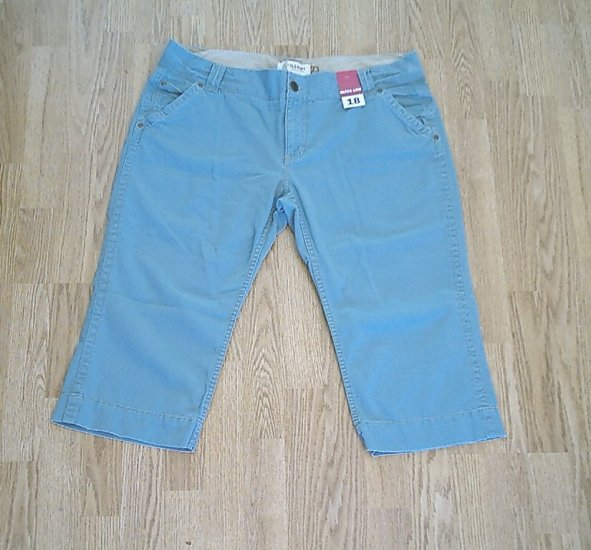 OLD NAVY JEANS ULTRA LOW CAPRIS PANTS-18-40 X 20-NWT