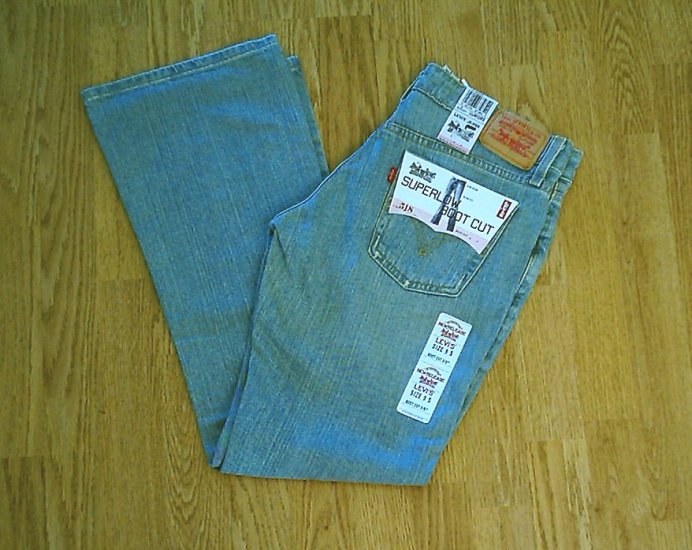 LEVIS 518 SUPERLOW BOOTCUT STRETCH JEANS-9-32 X 31-NWT
