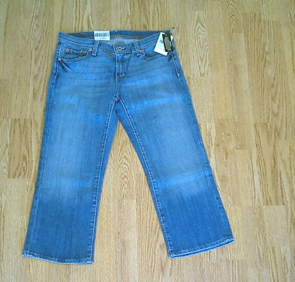 RALPH LAUREN STRETCH CROPPED JEANS-SIZE 8-34 X 23-NWT