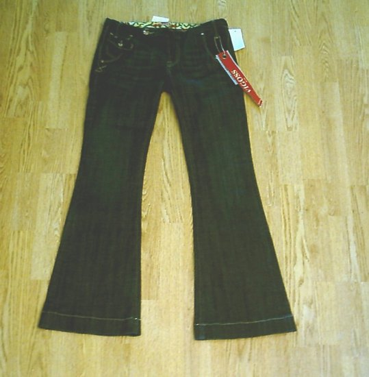 VIGOSS LOW RISE STRETCH FLARE JEANS 11-36 X 33 1/2-NWT