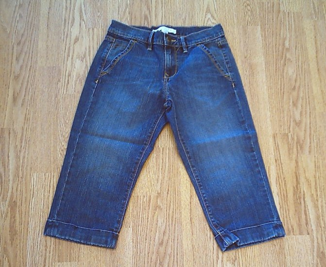 OLD NAVY JEANS STRETCH CAPRIS-SIZE 1-28 x 18 1/2-NWT
