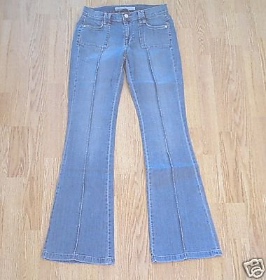 OLD NAVY STRETCH FLARE JEANS-1 SHORT-28 X 29 1/2-NWT