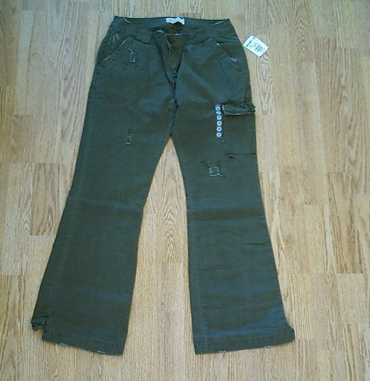 BKE JEANS LOW RISE OLIVE PANTS-SIZE 28 X 32-TAG 26-NWT