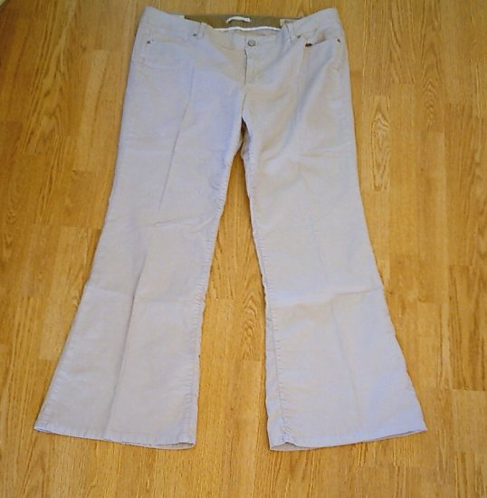 GAP JEANS LOW RISE FLARE CORDUROY PANTS-18-40 X 33-NWT