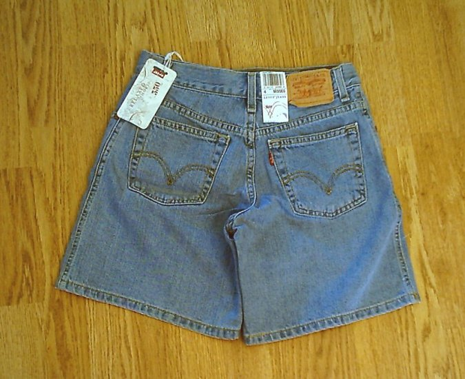 LEVIS JEANS 550 RELAXED DENIM SHORTS-SIZE 4-27 x 7-NWT