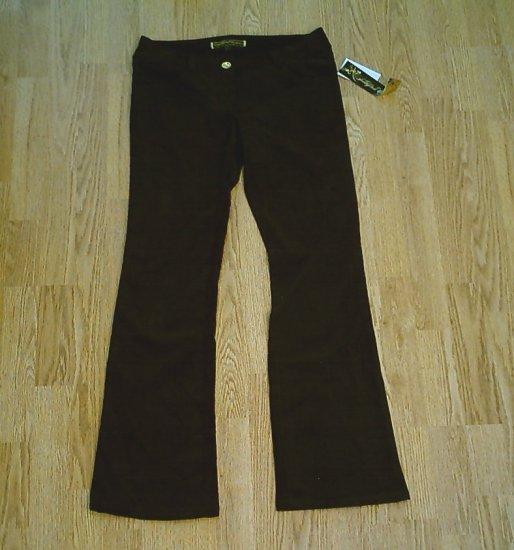 SOUTHPOLE JEANS BLACK CORDUROY PANTS-SIZE 7-32/33.5-NWT