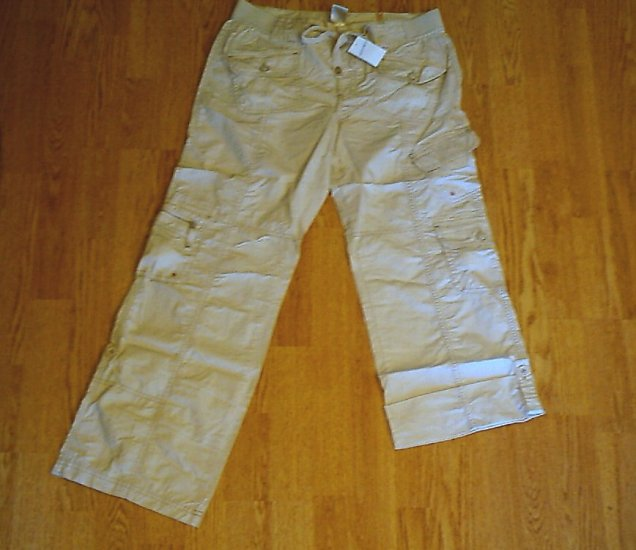 LIMITED TOO JEANS KHAKI PANTS/CAPRI CROP-14 1/2-NWT $49
