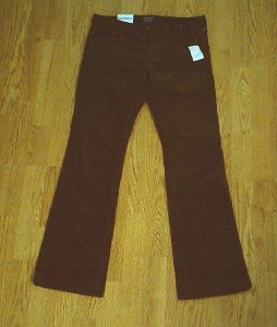 RALPH LAUREN JEANS BOOTCUT CORDUROY PANTS-10-34/32-NWT