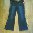 ARIZONA GIRLS FLARE LACED STRETCH JEANS-14 1/2 PLUS-NWT