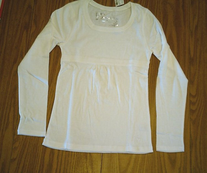 LIMITED TOO JEANS GIRLS IVORY SHIRT TOP-SIZE 14-NWT NEW