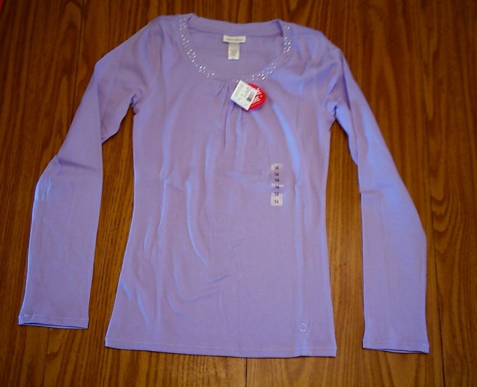 LIMITED TOO JEANS GIRLS PURPLE SHIRT TOP-SIZE 14-NWT