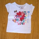 CHILDS PLACE LOVE FLOWER HEART TOP SHIRT-24 MONTHS-NWT