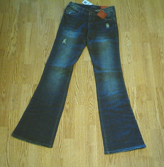 VANITY LOW RISE JERSEY FLARE JEANS-27 X 37-TAG 25-NWT