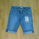 PARIS BLUES JEANS LOW RISE BERMUDA SHORTS-SIZE 7-NWT