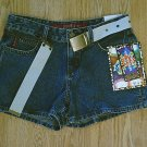 MUDD JEANS HIP HUGGER SHORTS-SIZE 7-32 X 3 1/2-NWT
