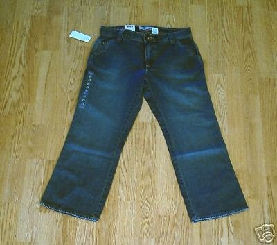 OLD NAVY JEANS ULTRA LOW WAIST CAPRIS-2-29 X 25-NWT