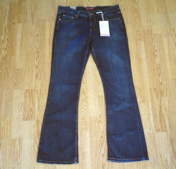 LEVIS 518 SUPERLOW BOOTCUT JEANS-13 LONG-35 X 34-NWT