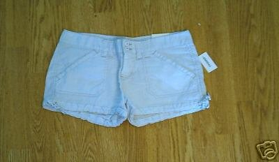 AEROPOSTALE JEANS LOW RISE SHORTS-7/8-33 X 2 1/2-NWT