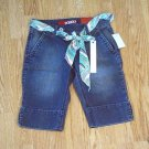 BONGO JEANS LOW RISE BERMUDA SHORTS-SIZE 3-27 X 11-NWT