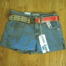 LEVIS JEANS 518 SUPERLOW SHORTS-SIZE 0-27 X 2 3/4-NWT
