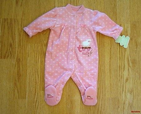 CARTERS BABY GIRLS SLEEP & PLAY FLEECE-0-3 MONTHS-NWT