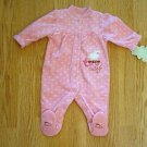 CARTERS BABY GIRLS SLEEP & PLAY FLEECE-0-3 MONTHS-NWT
