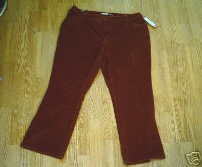 ST JOHNS BAY STRETCH CORDUROY BOOT PANT-20W-40 X 30-NWT