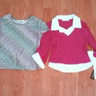 LOT-AMY BYER SHORT 3/4 SLEEVE SHIRT TOPS-GIRLS 8/10-NWT