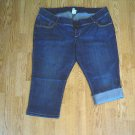 OLD NAVY JEANS MATERNITY CAPRIS-SIZE XLARGE-16/18-NWT