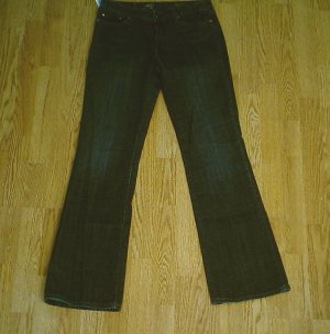 LEVIS BOOT STRETCH JEANS-SIZE 6-31 x 32 1/2-NWT $60