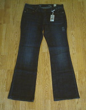 LEVIS BOOT STRETCH JEANS-SIZE 8-33 x 32-NWT $60
