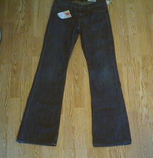 GAP LOW RISE FLARE STRETCH JEANS-SIZE 2 LONG-30/ 34-NWT