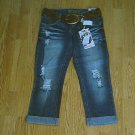 BONGO JEANS LOW RISE CUFFED CAPRIS-SIZE 1-30 X 23-NWT